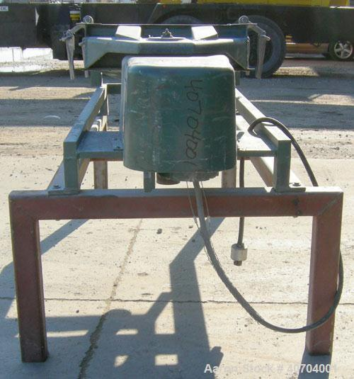 "Used- Rotex Screener, model 12, carbon steel. 20"" wide x 37"" long double deck, 3 separation. No top cover, 3 bottom outlets...."