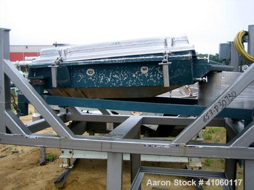"Used- Rotex Screener, Model 12, Stainless Steel. 20"" wide x 37"" long double deck, 3 separation. Top cover, 3 bottom outlets...."