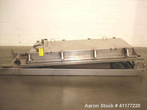 "Used- Rotex Sanitary Screener, Model 431 SAN/AL/SS, Stainless Steel. 40"" wide x 84"" long single deck, 2 separation. Clamp do..."