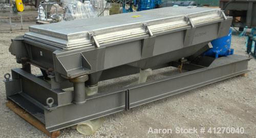 "Used- Rotex Screener, Model 803A-AL/SS, 304 Stainless Steel. Approximately 40"" wide x 84"" long triple deck, 4 seperation. Cl..."
