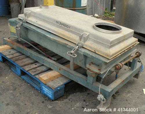 "Used- Rotex Screener, Model 12A AL/SS, 316 stainless steel. 20"" wide x 37"" long double deck, 3 separation. Clamp down alumin..."