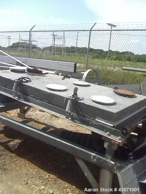 "Used-Rotex Screener, Model 321, Carbon Steel. 40"" wide x 84"" long single deck, 2 separation. Clamp down top cover, two botto..."