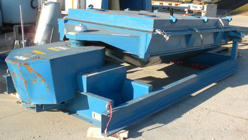 "Used- Rotex Screener, Model 842DMWMM, Carbon Steel. 60"" wide x 84"" long double deck, 3 separation. Clamp down top cover, 3 b..."
