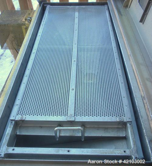 "Used- Rotex Screener, Model 11A AL/SS, 304 Stainless Steel. 20"" wide x 48"" long single deck, 2 separation. Clamp down alumin..."