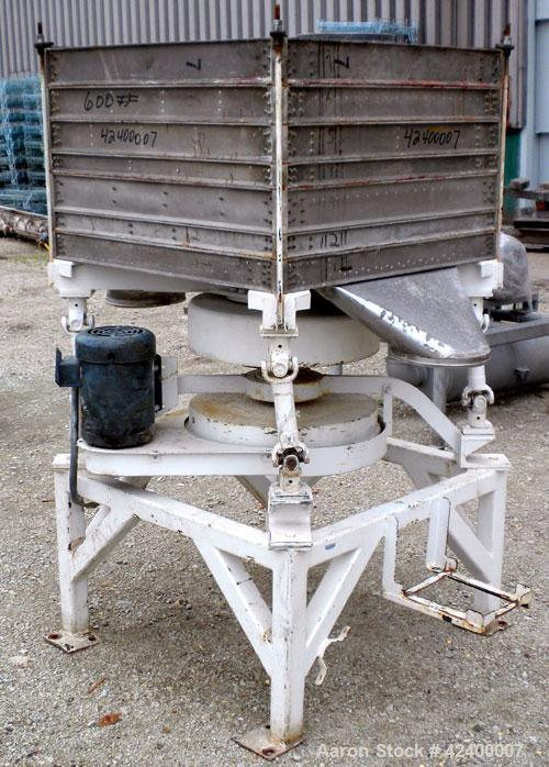 Used- Clipper Products Gyratory Square Sifter, Model CS1, 6 deck, double discharge. (7) 36'' Wide x 36'' long aluminum decks...