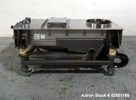 "Used- Best Equipment screen, model BE3960-GB, stainless steel construction, approximately 24"" wide x 74"" long deck, single d..."