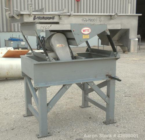 "Used- Witte Screener, 304 Stainless Steel. 35"" Wide x 52"" long, 2 separations. Includes a 24'' long section of intake cover...."