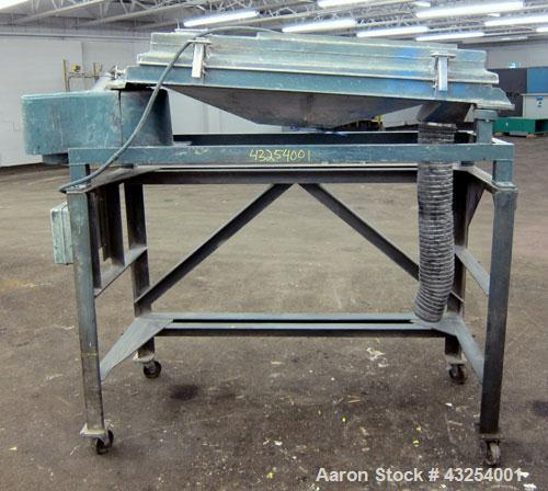 "Used- Rotex Screener, Model 11 PS AL/SS, 304 Stainless Steel. 20"" Wide x 36"" long, single deck, 2 separation. 1 Piece alumin..."