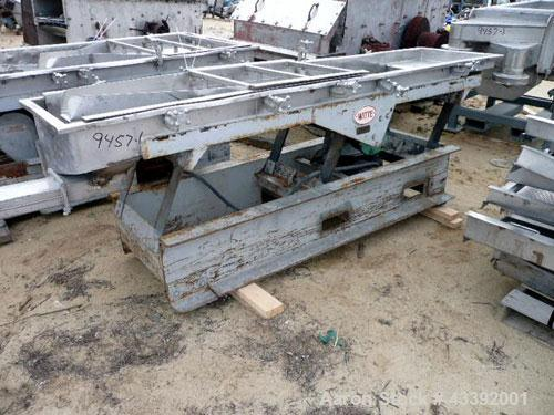 "Used- Witte Classifying Screen, Stainless Steel. Approximate 22"" x 102"", 2 deck classification. Includes 2 screen decks, mis..."