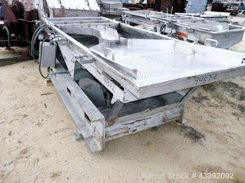 "Used- Witte Classifying Screen, Stainless Steel. Approximate 36"" x 105"", 2 deck classification. Includes spare screen."