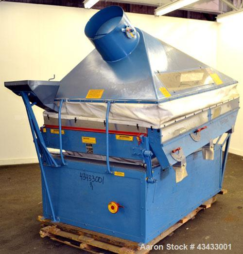 Used- Forsberg Inc. Vacuum Gravity Separator, Model 50V. Carbon steel, and wood construction. 19 Square feet deck area. Driv...