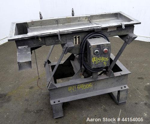 "Used- Witte Screener, 304 Stainless Steel. 12"" Wide x 41"" long. 2 Separation with an approximate 20"" long perforated section..."