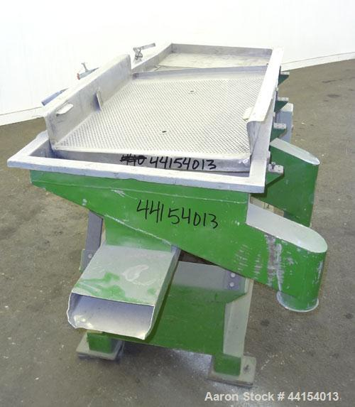 "Used- Witte Screener, 304 Stainless Steel. 22"" Wide x 64"" long. 3 Separation with (2) perforated sections. Driven by a 1/2hp..."
