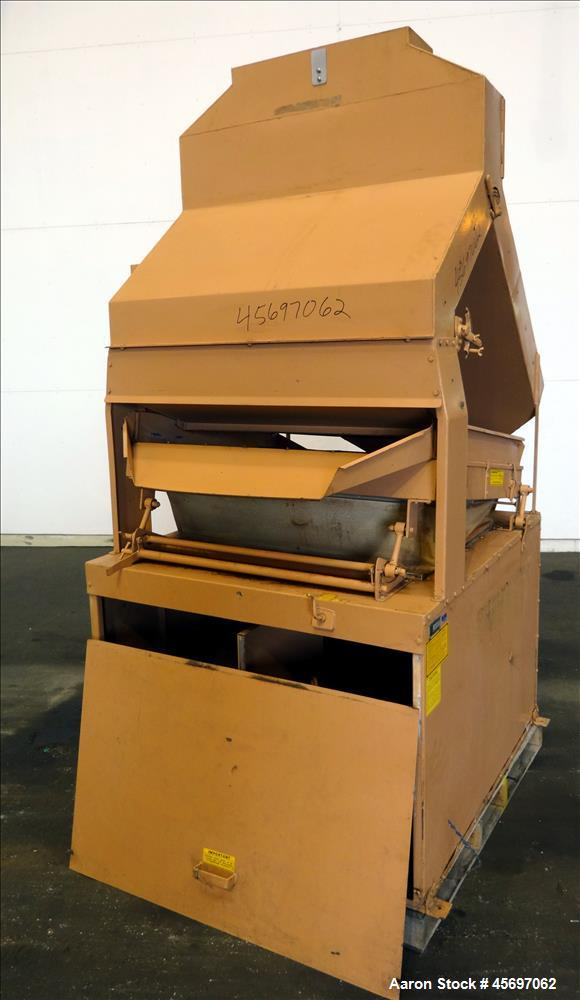 "Used- Forsberg Destoner, Model G-6, Carbon Steel. Screen 41"" long x 34"" wide. Light particle outlet 15"" x 10"", heavy particl..."