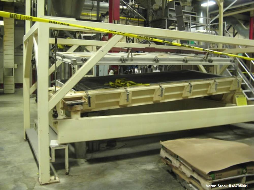 Used-Rotex sifter. About 12' long x 6' wide.  Model 52A AL/SS serial # R190394  Stainless steel