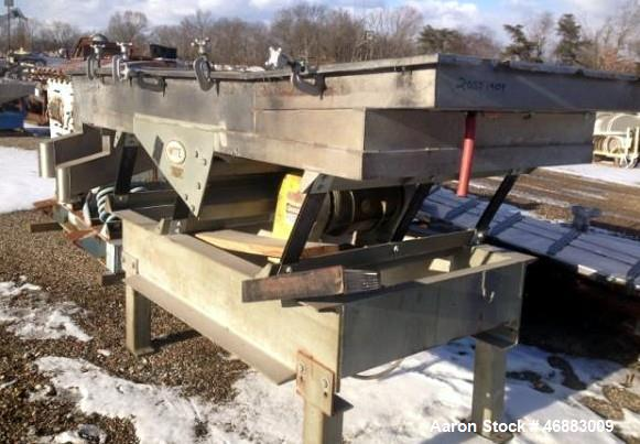 "Used-WITTE STAINLESS STEEL 2-DECK CLASSIFIER WITH APPROXIMATELY 48"" X 96"" SCREEN DECK.  NO SCREEN INCLUDED"