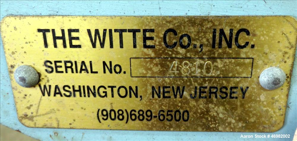 Used- Witte Classifying Screen, 304 Stainless Steel.