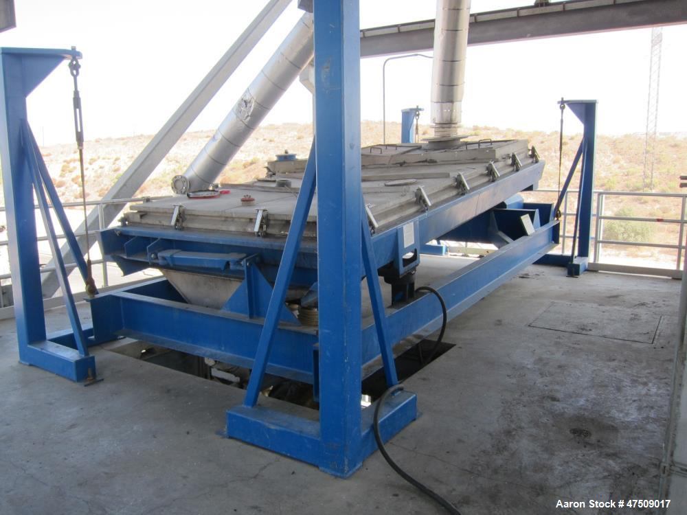 Used- Rotex Screener, Model 5722DA-AASS, 4' wide x 12' Long, Stainless steel. S/n R207454A