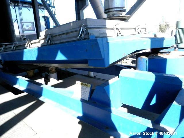 "Used- Rotex Screener, Model 5722DA-AASS, Stainless Steel. 80"" Wide x 144"" long double deck, 3 separation. Clamp down top cov..."