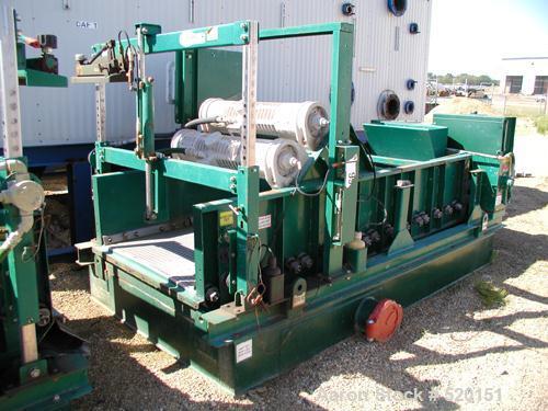 USED: Derrick High G screen, model 2M48-120F-4A. 7 hp, 480 volt 3 phase. Approximately 5' wide x 12' long. Carbon steel cons...