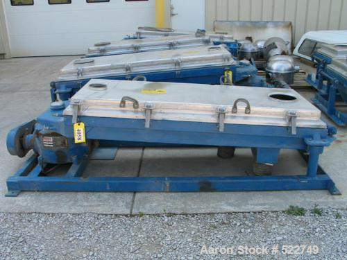 "USED: Rotex 30"" x 60"" screener, model 202A-AL/MS, double deck, threeseparations. Aluminum cover and screen frames, carbon st..."