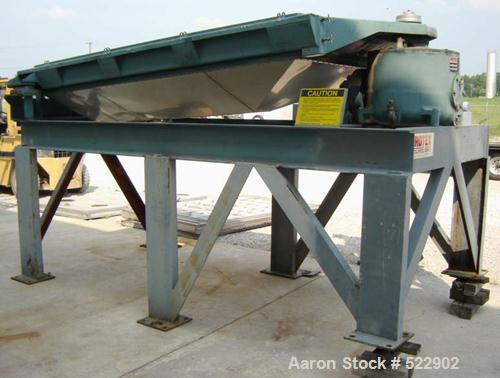 "USED: 60"" x 84"" two deck Rotex screener, model 842A-AL/SS. Automatictension design. Major weight 301, minor weight 147. Alum..."