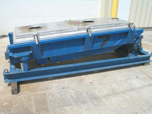 "USED: 30"" x 60"" three deck Rotex screener, model 403A-AL-MS. Aluminumcover and screen frames. Automatic tension. Mild steel ..."