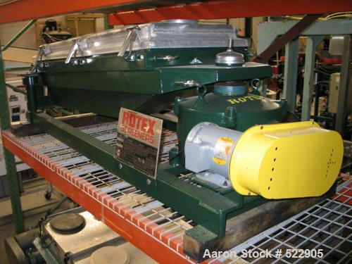 "USED: 24"" x 48"" Rotex screener, model 242A. Upper weight 88 lbs,lower weight 41 lbs. 1 hp motor refurbished. Aluminum and st..."