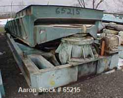 "USED: Rotex chip screener, model 72. Carbon steel, single deck, 80"" wide x 180"" long nominal screen surface, driven by 10 hp..."