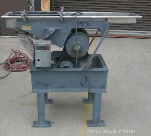 "USED: Witte screen, stainless steel. 10"" wide x 55"" long, 2 separation (no screens). Screener driven by 1 hp, 3/60/230/460 v..."