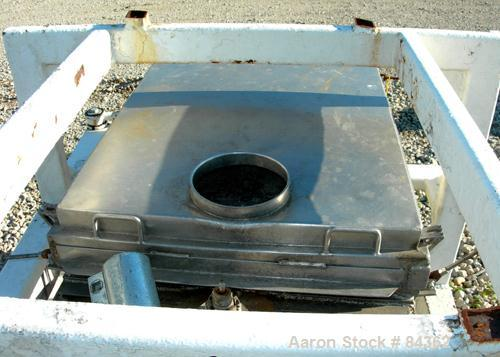 "Used- Rotex Screener, Model 40, 304 Stainless Steel. 28"" Wide x 40"" long single deck, 2 separation. Bolt down top cover, 2 b..."