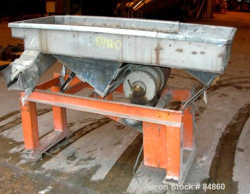 "USED: Witte Screener, stainless steel. Single deck with 2 separation sections. 24"" wide x 63"" long. Driven by an approximate..."