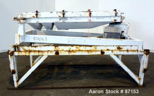 "Used- Rotex Screener, Model 422SANAL/SS, 304 Stainless Steel. 40"" Wide x 56"" long double deck, 3 separation. 15.5 Square fee..."