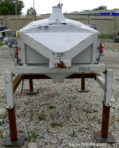 "USED: Smico screener, carbon steel, single deck, 2 separation, 36"" wide x 72"" long. Top cover. Driven by a 1 hp, 3/60/230/46..."