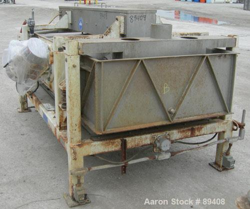 Used- Sweco Full Flow Ellipitical Motion Rectangular Separator, Model EM-3A, Pre-Tension Screen Design, 304 Stainless Steel....