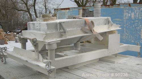 "Used- Rotex Screener, Model 241A, 304 Stainless Steel. 24"" wide x 48"" long single deck, 2 separation. Clamp down 304 stainle..."