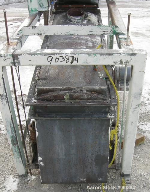 "Used- Prater Screener, Model VS1-15-2E, Carbon Steel. Approximately 15"" wide x 72"" long double deck, 2 separation. Top end f..."