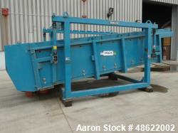 Used- BM&M Screening Solutions High Speed Horizontal Gyratory Screener, Model 6X16-2D, Carbon Steel. Driven by a 7.5hp, 3/60...