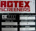 Used- Rotex screener, model 521D SAN, 304 stainless steel. 60