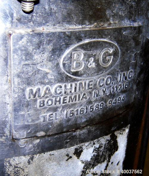 Used- 15 Gallon Stainless Steel B&G Tank, Model 25DD