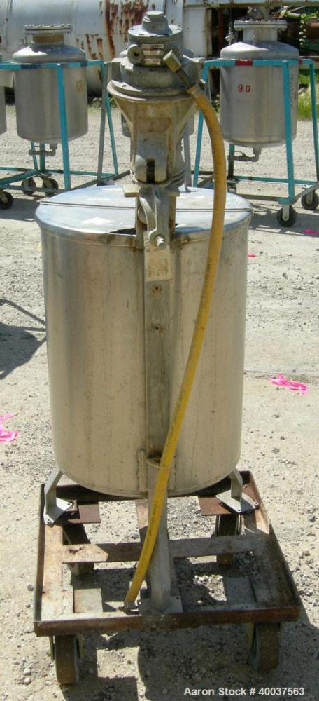 Used- 25 Gallon Stainless Steel Alsop Tank, Model 25DD