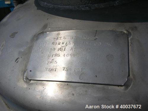 Used- 50 Gallon Stainless Steel Norwalk Pressure Tank