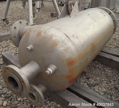 "Used- Acme Industrial Pressure Tank, 44 gallon, stainless steel, vertical. Approximately 18"" diameter x 36"" straight side. D..."