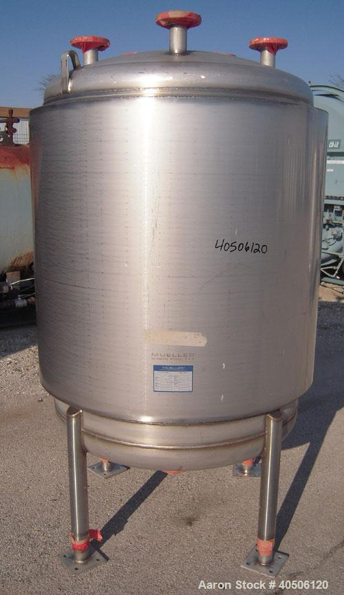 "Unused- Mueller Pressure Tank, 250 Gallon, Model ""F"", 304L Stainless Steel, Vertical. 42"" diameter x 47"" straight side, dish..."