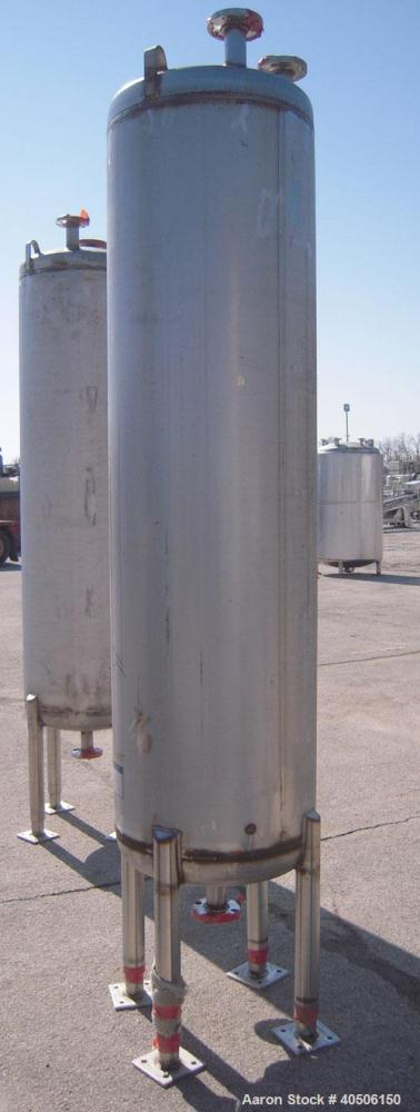 "Unused- Mueller Pressure Tank, 150 Gallon, Model ""F"", 304L stainless steel, vertical. 23 1/2"" diameter x 80"" straight side, ..."