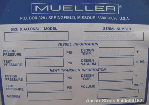 "25 Gallon Stainless Steel Mueller Tank, Model ""H"""