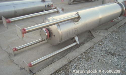 "Unused- Mueller Pressure Tank, 263 Gallon, model ""F"", 304L stainless steel,  vertical. 24"" diameter x 138"" straight side, di..."