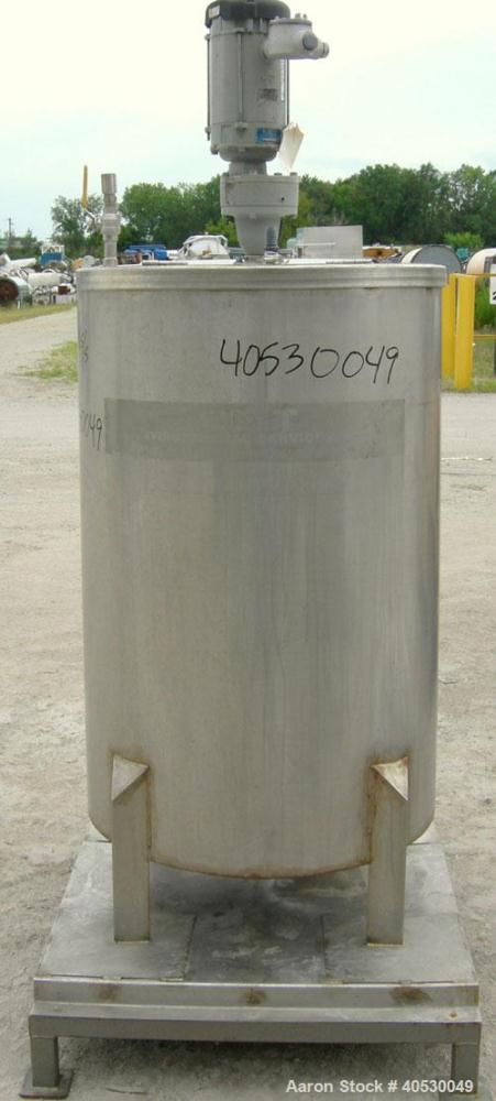 "Used - CMT Environmental Services Tank, 175 gallon, 304 stainless steel. Approximately 32"" diameter x 48"" straight side. Fla..."