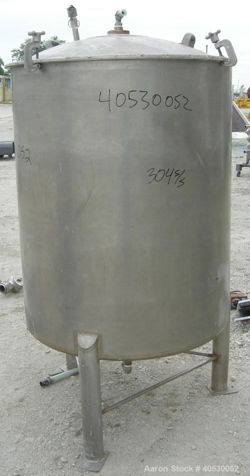 "Used - Lee Metal Products Tank, Model 200DBT, 304 stainless steel, vertical. Approximately 40"" diameter x 48"" straight side,..."