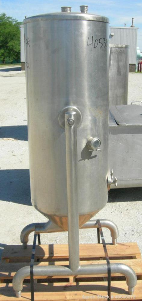 Used - Delaval Vacu-Therm Tank, 60 gallon, model 500, 304 stainless steel. Approximately 20'' diameter x 44'' straight side....